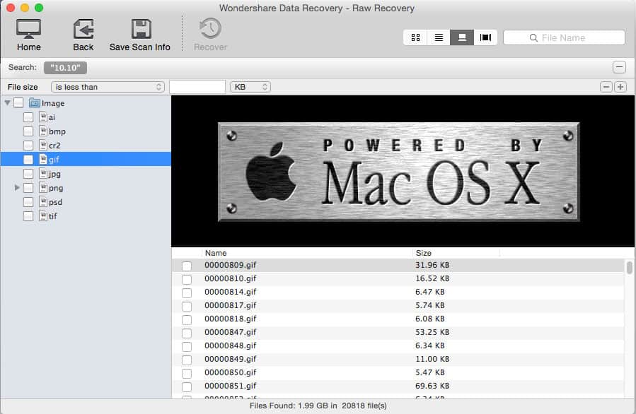 Recover Lost RAW Image from Digital Camera on Mac