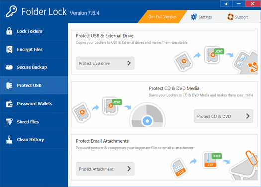 Folder Lock - Protect USB