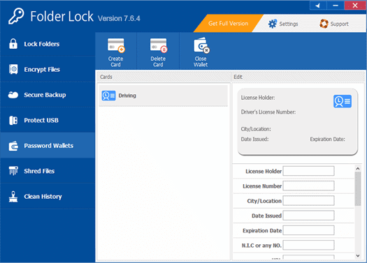 Folder Lock - Password Wallets