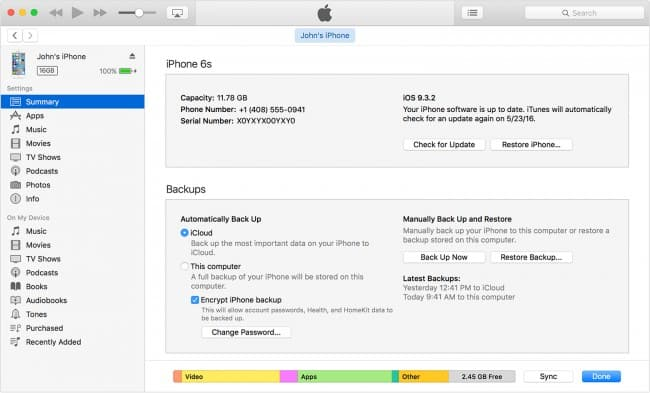 Restore iPhone data lost from iTunes Due to iOS Upgrading