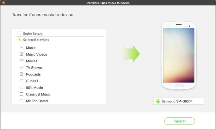 Put Music & Playlist from iTunes to Galaxy S*