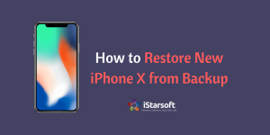 restore new iPhone X from backup