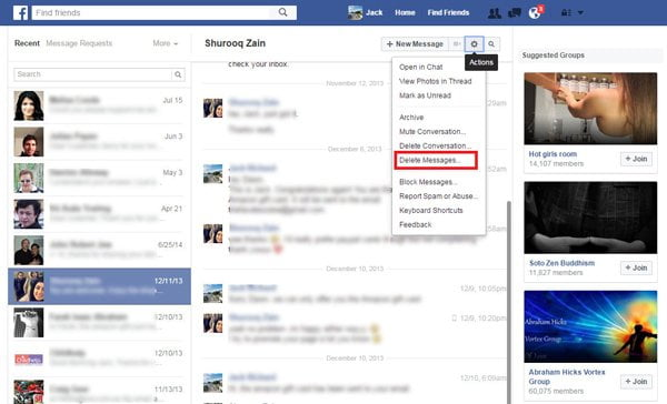 how to receive fb messages on phone