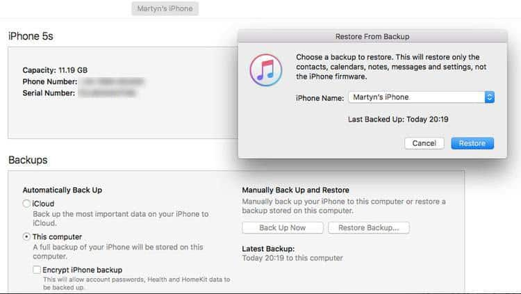Restore with iTunes to fix iPhone Apple Logo Loop