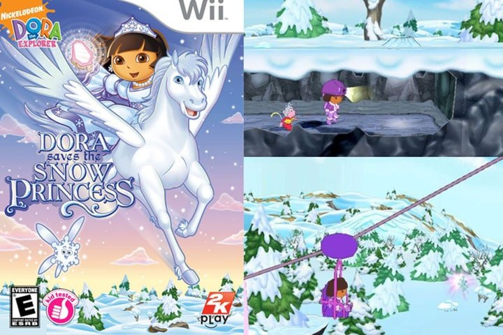Best Wii Games for Kids - Dora and the Snow Princess