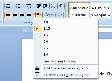 Why should you learn how to double space in Microsoft Word