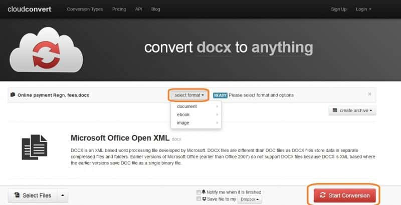 Convert OGG To MP3 with CloudConvert