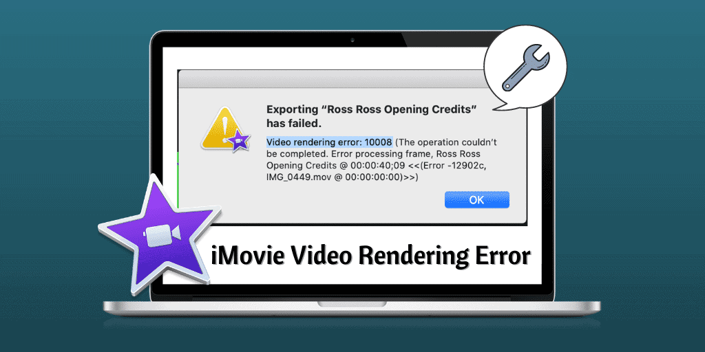 Errore di rendering del video di iMovie
